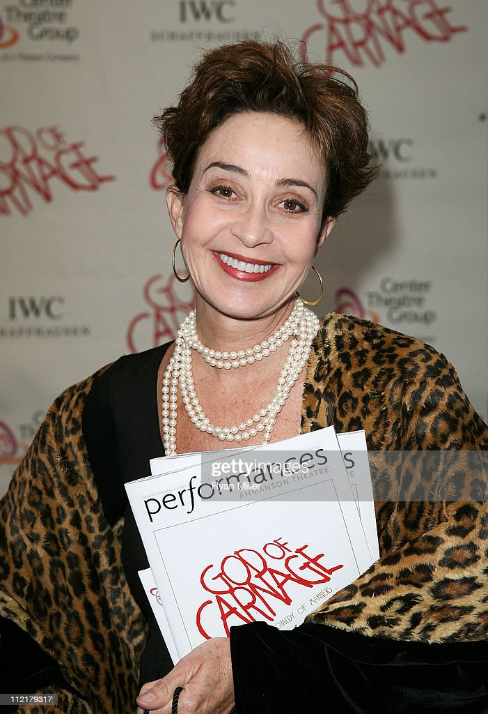 Actress Annie Potts poses during the arrivals for the opening night performance of 'God of Carnage' at Center Theatre Group's Ahmanson Theatre on April 13, 2011 in Los Angeles, California.