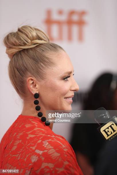 Actress Annie Starke attends the 'The Wife' premiere during the 2017 Toronto International Film Festival at Roy Thomson Hall on September 14 2017 in...