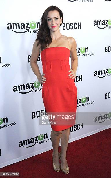 Actress Annie Wersching arrives at screening of Amazon's 1st Original Drama Series 'Bosch' at The Dome at Arclight Hollywood on February 3 2015 in...