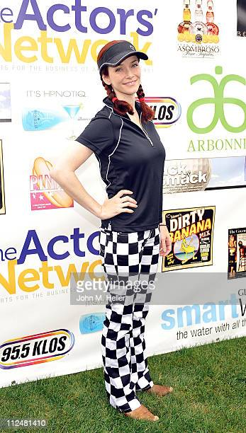 Actress Annie Wersching attends the 8th Annual Hack N' Smack Celebrity Golf Tournament at El Caballero Country Club on April 18 2011 in Tarzana...