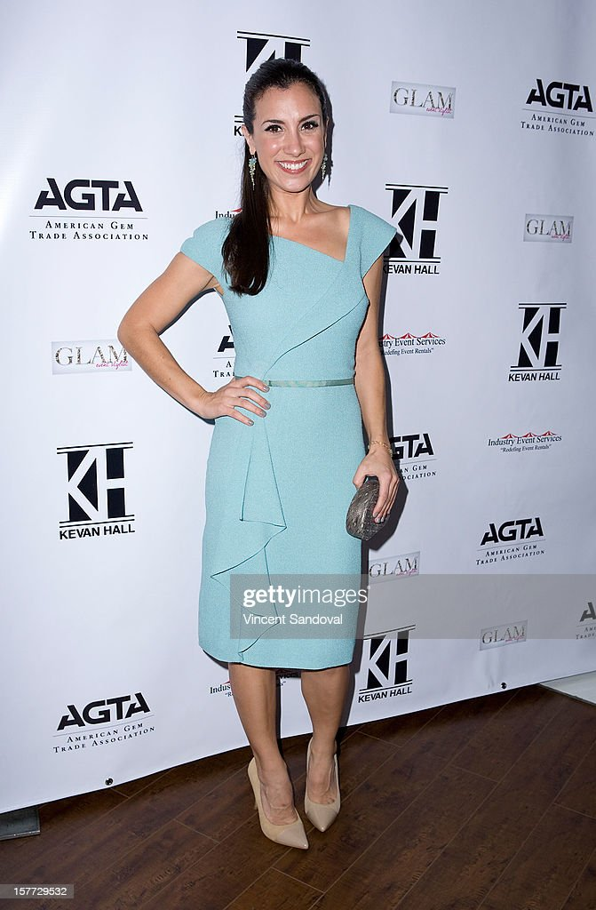 Actress Annika Marks attends fashion designer Kevan Hall's Spring 2013 Collection on December 5, 2012 in Los Angeles, California.