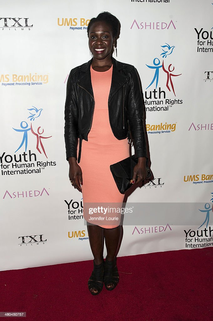 Actress Anniwaa Buachie attends the Youth For Human Rights International Celebrity Benefit Event hosted at the Beso on March 24, 2014 in Hollywood, California.