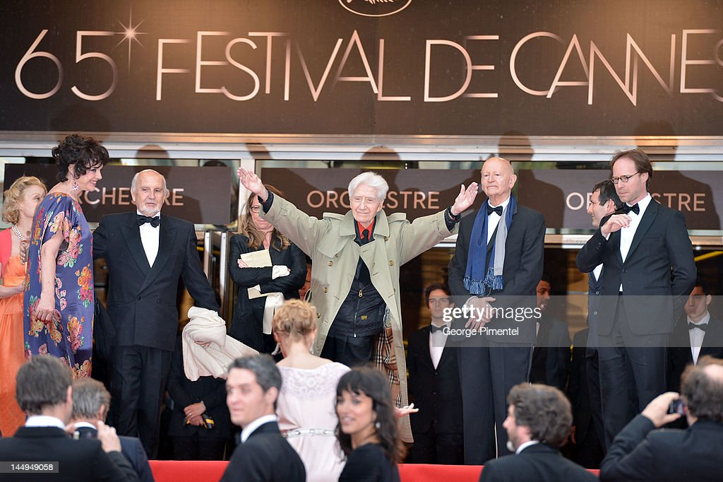 Actress Anny Duperey (L), director <a gi-track='captionPersonalityLinkClicked' href=/galleries/search?phrase=Alain+Resnais&family=editorial&specificpeople=1090412 ng-click='$event.stopPropagation()'>Alain Resnais</a> (C) and Cannes President <a gi-track='captionPersonalityLinkClicked' href=/galleries/search?phrase=Gilles+Jacob&family=editorial&specificpeople=212799 ng-click='$event.stopPropagation()'>Gilles Jacob</a> (2R) attend the 'Vous N'avez Encore Rien Vu' Premiere during the 65th Annual Cannes Film Festival at Palais des Festivals on May 21, 2012 in Cannes, France.