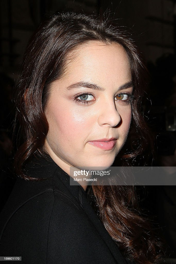 Actress Anouchka Delon arrives to attend the Elie Saab Spring/Summer 2013 Haute-Couture show as part of Paris Fashion Week at Pavillon Cambon Capucines on January 23, 2013 in Paris, France.