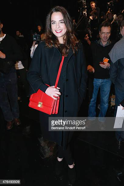 Actress Anouchka Delon attends the Elie Saab show as part of the Paris Fashion Week Womenswear Fall/Winter 20142015 on March 3 2014 in Paris France