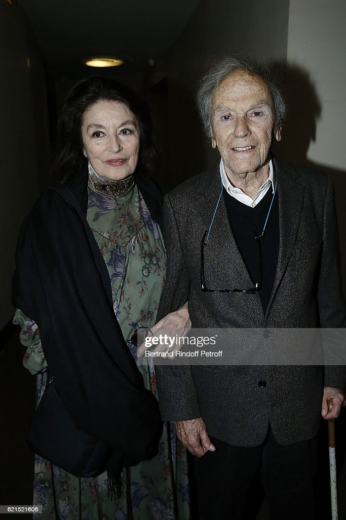 Actress Anouk Aime and Actor Jean-Louis Trintignant attend 'Un Homme et Une Femme' screening for its 5Oth Anniversary at l'Arlequin on November 6, 2016 in Paris, France.