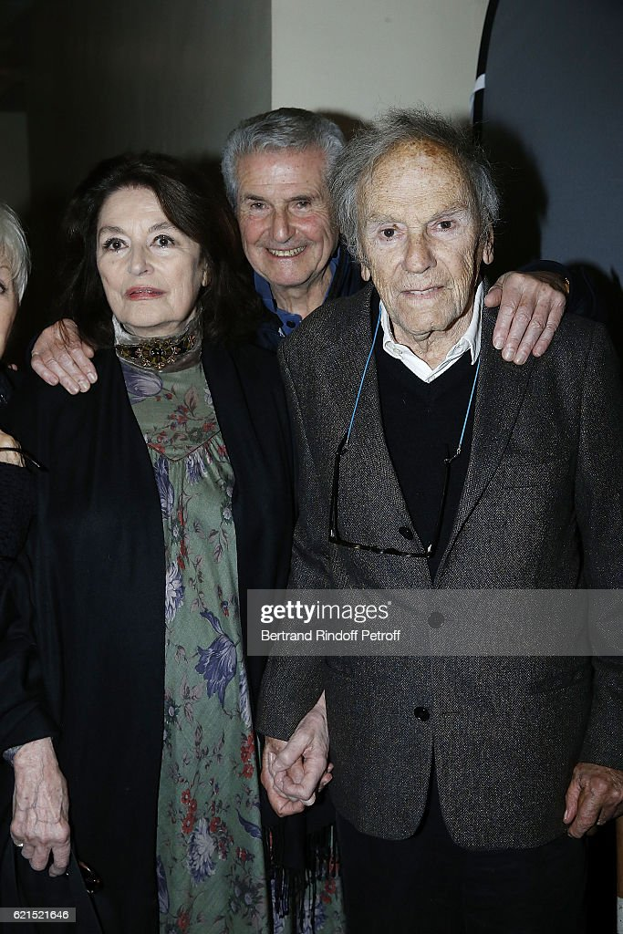 Actress Anouk Aime, Director Claude Lelouch and Actor Jean-Louis Trintignant attend 'Un Homme et Une Femme' screening for its 5Oth Anniversary at l'Arlequin on November 6, 2016 in Paris, France.