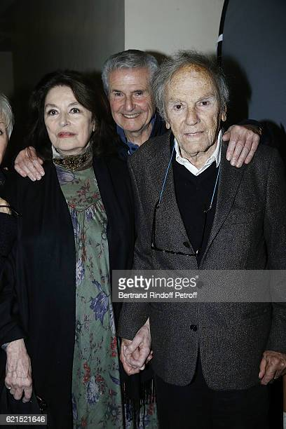 Actress Anouk Aime Director Claude Lelouch and Actor JeanLouis Trintignant attend 'Un Homme et Une Femme' screening for its 5Oth Anniversary at...