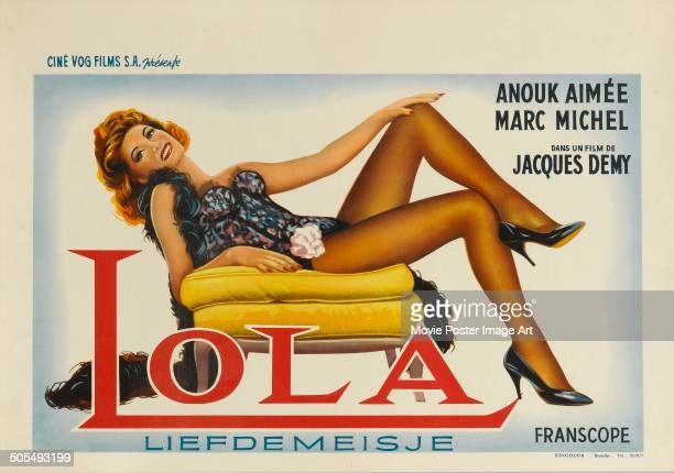 Actress Anouk Aimée features on a French poster for the movie 'Lola' 1961