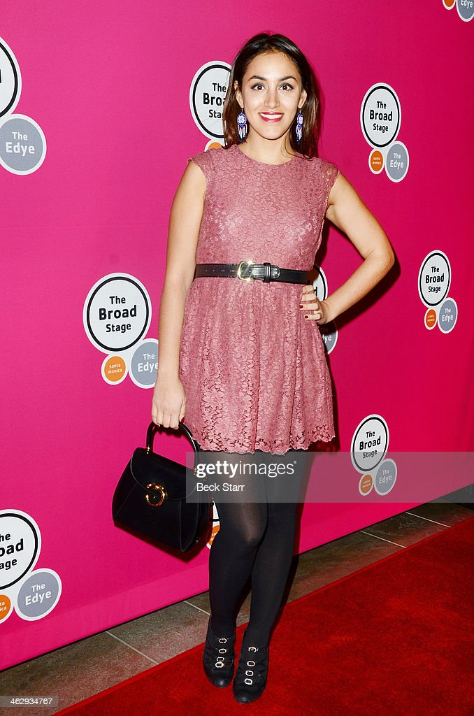 Actress Anoushka Ravanshad attends the opening night of 'An Iliad' at The Eli and Edythe Broad Stage on January 15, 2014 in Santa Monica, California.