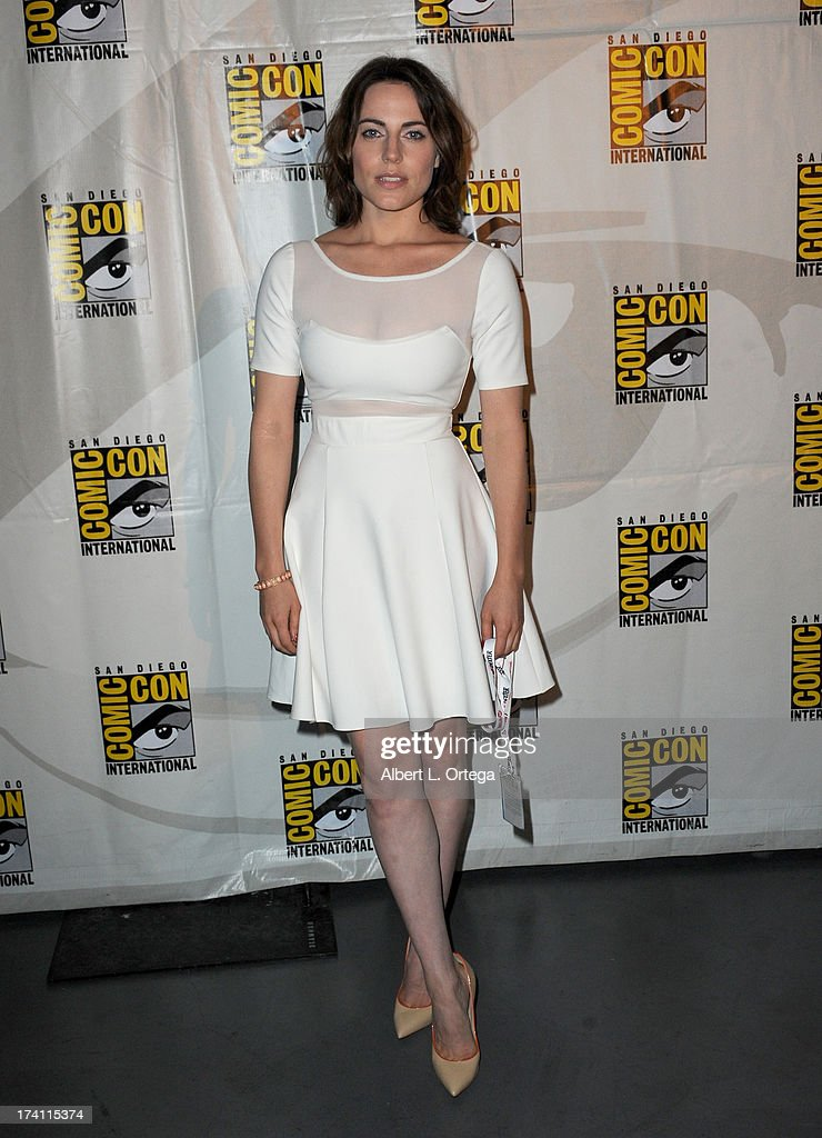 Actress Antje Traue appears at the Warner Bros. and Legendary Pictures preview of 'Seventh Son' during Comic-Con International 2013 at San Diego Convention Center on July 20, 2013 in San Diego, California.