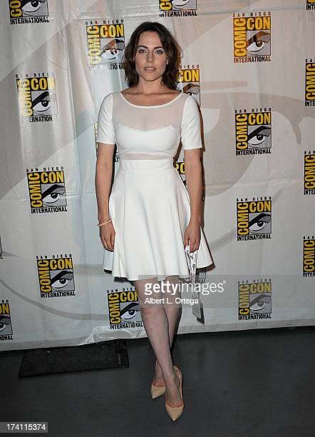 Actress Antje Traue appears at the Warner Bros and Legendary Pictures preview of 'Seventh Son' during ComicCon International 2013 at San Diego...