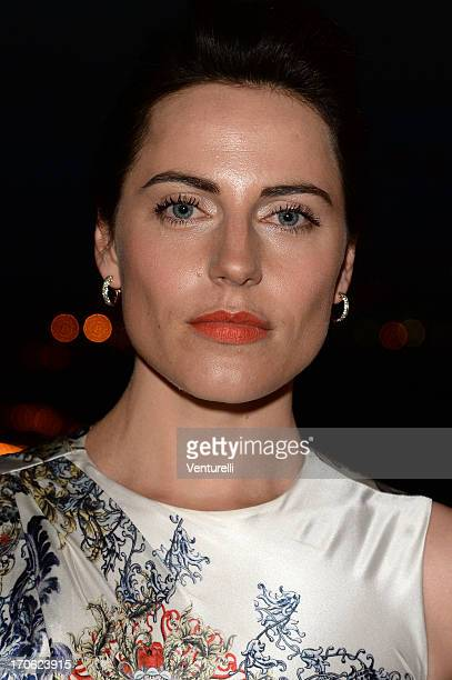 Actress Antje Traue attends Opening Ceremony and 'Man of Steel Premiere' during the Taormina Filmfest 2013 at Teatro Antico on June 15 2013 in...