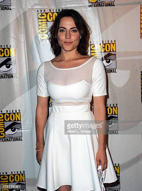 Actress Antje Traue attends the Warner Bros and Legendary Pictures preview of 'Seventh Son' during ComicCon International 2013 at San Diego...