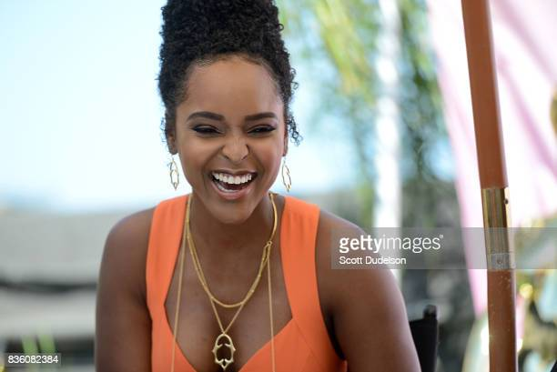 Actress Antoinette Robertson appears onstage during the GIRL CULT Festival at The Fonda Theatre on August 20 2017 in Los Angeles California