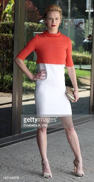 Actress Antonia Liskova attends 'Maria di Nazaret' TV series photocall at Rai Viale Mazzini on March 30 2012 in Rome Italy