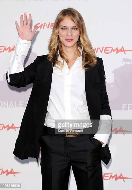 Actress Antonia Liskova attends the 'Le Cose Che Restano' Photocall during the 5th International Rome Film Festival at the Auditorium Parco Della...