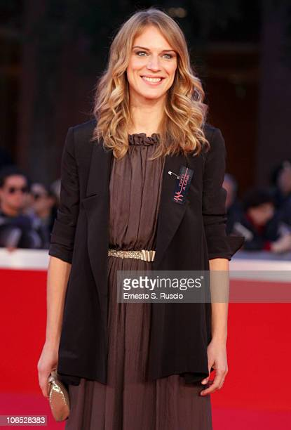 Actress Antonia Liskova attends the 'Le Cose Che Restano' Premiere during the 5th International Rome Film Festival at the Auditorium Parco Della...