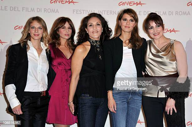 Actress Antonia Liskova Valentina D'agostino Farida Rahouadj Paola Cortellesi and Daniela Giordano attend the 'Le Cose Che Restano' Photocall during...