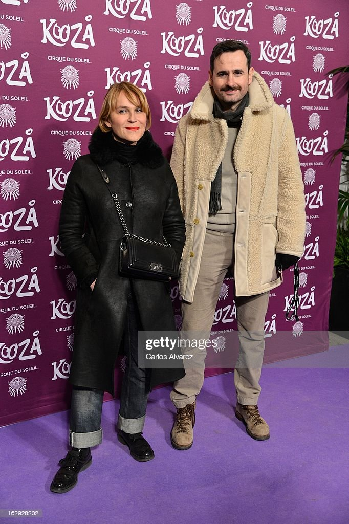 Actress Antonia San Juan and Luis Miguel Segui attend 'Cirque Du Soleil' Kooza 2013 premiere on March 1, 2013 in Madrid, Spain.