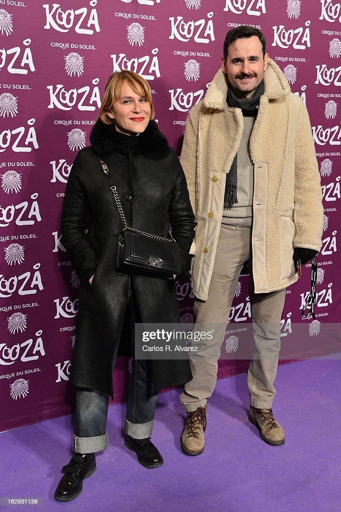 Actress Antonia San Juan and Luis Miguel Segui attend 'Cirque Du Soleil' Kooza 2013 premiere on March 1, 2013 in Madrid, Spain.