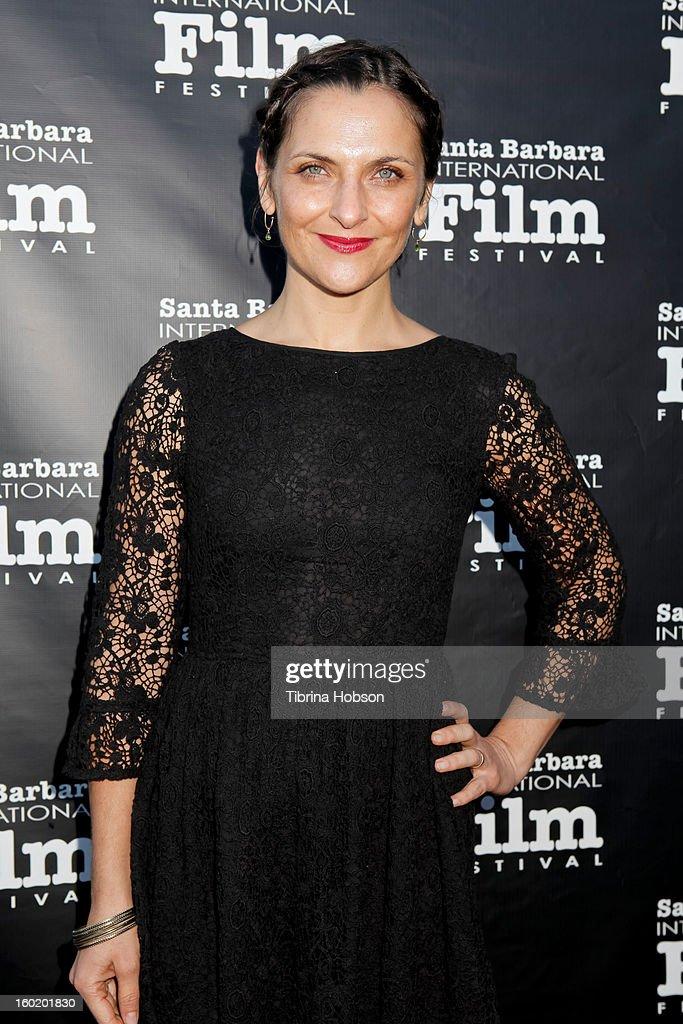 Actress Antonia Zegers 28th Santa Barbara International Film Festival 'No' premiere at Lobero Theatre on January 26 2013 in Santa Barbara California