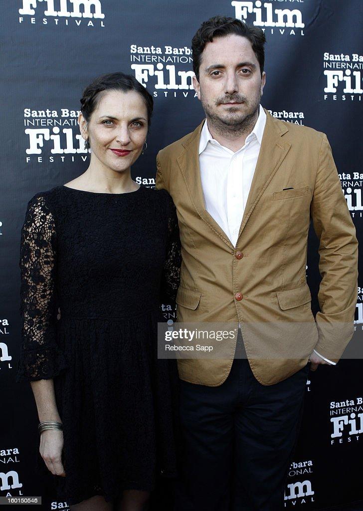 Actress Antonia Zegers and director Pablo Larrain attend the 28th Santa Barbara International Film Festival Gala Screening Of 'No' on January 26 2013...