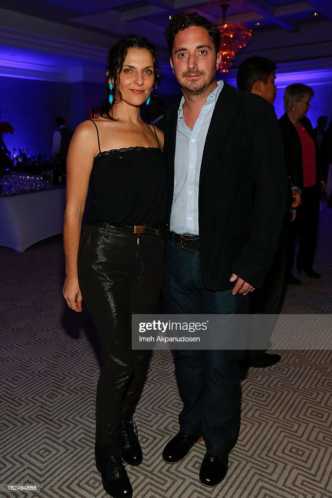 Actress <a gi-track='captionPersonalityLinkClicked' href=/galleries/search?phrase=Antonia+Zegers&family=editorial&specificpeople=7173145 ng-click='$event.stopPropagation()'>Antonia Zegers</a> (L) and director <a gi-track='captionPersonalityLinkClicked' href=/galleries/search?phrase=Pablo+Larrain&family=editorial&specificpeople=5351700 ng-click='$event.stopPropagation()'>Pablo Larrain</a> attend the Sony Pictures Classics Pre-Oscar Dinner at The London Hotel on February 23, 2013 in West Hollywood, California.