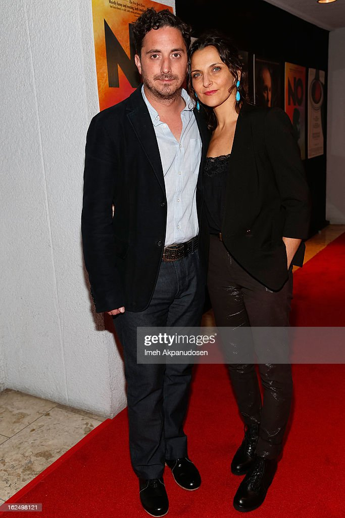 Actress <a gi-track='captionPersonalityLinkClicked' href=/galleries/search?phrase=Antonia+Zegers&family=editorial&specificpeople=7173145 ng-click='$event.stopPropagation()'>Antonia Zegers</a> (R) and director <a gi-track='captionPersonalityLinkClicked' href=/galleries/search?phrase=Pablo+Larrain&family=editorial&specificpeople=5351700 ng-click='$event.stopPropagation()'>Pablo Larrain</a> attend the Sony Pictures Classics Pre-Oscar Dinner at The London Hotel on February 23, 2013 in West Hollywood, California.