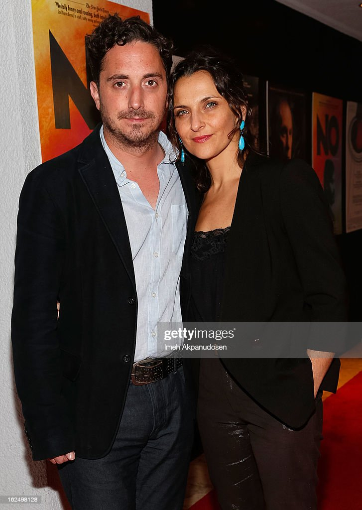 Actress Antonia Zegers and director Pablo Larrain attend the Sony Pictures Classics PreOscar Dinner at The London Hotel on February 23 2013 in West...