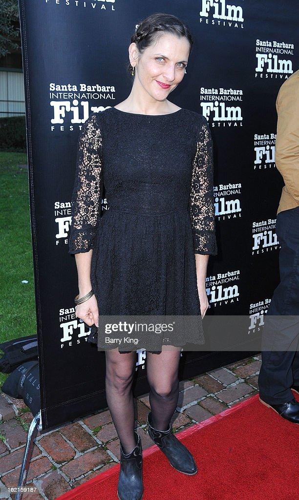 Actress Antonia Zegers attends the 28th Santa Barbara International Film Festival 'No' Premiere at Lobero Theatre on January 26 2013 in Santa Barbara...