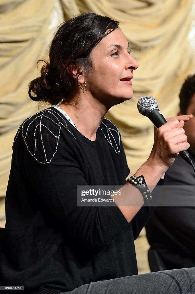 Actress Antonia Zegers attends the Film Independent At LACMA free screening of 'No' copresented by The New York Times Film Club at the Bing Theatre...