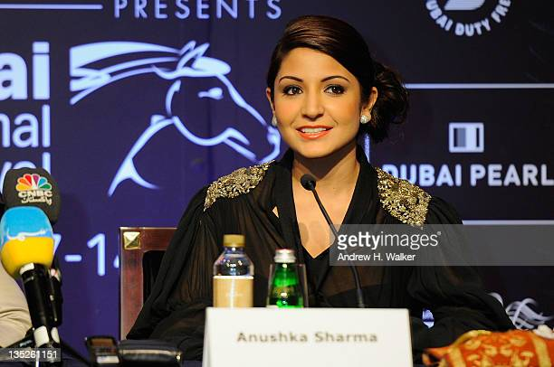 Actress Anushka Sharma attends the 'Ladies vs Ricky Bahl' press conference during day two of the 8th Annual Dubai International Film Festival held at...
