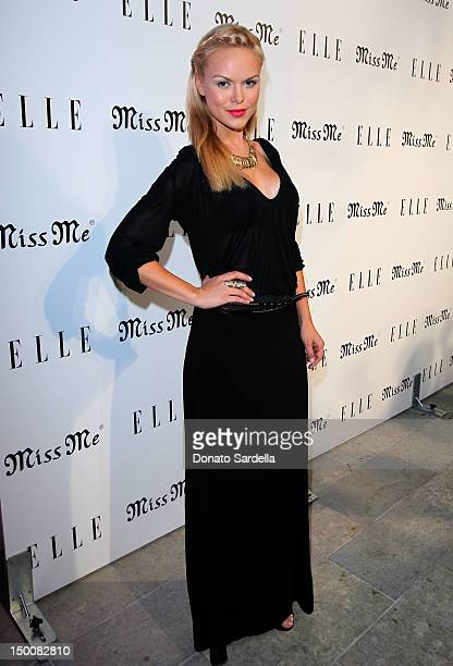 Actress Anya Monzikova attends ELLE And Miss Me Party on August 9 2012 in Los Angeles California
