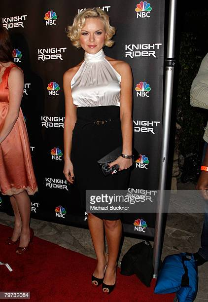 Actress Anya Monzikova attends the premiere of NBC's 'Knight Rider' at the Playboy Mansion February 12 2008 in Los Angeles California