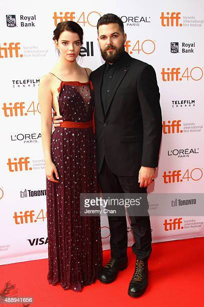 Actress Anya TaylorJoy and Director Robert Eggers attend 'The Witch' premiere during the 2015 Toronto International Film Festival held at Ryerson...