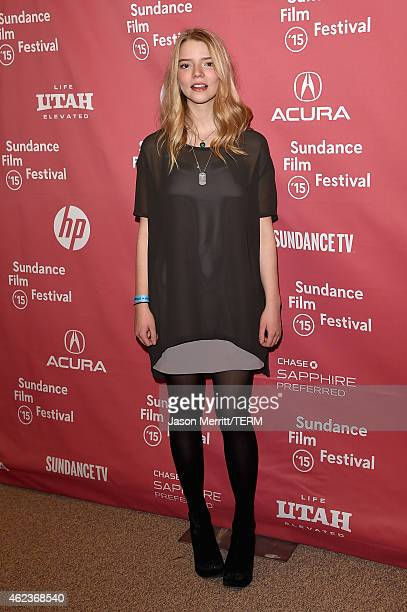 Actress Anya TaylorJoy attends 'The Witch' premiere during the 2015 Sundance Film Festival on January 27 2015 in Park City Utah