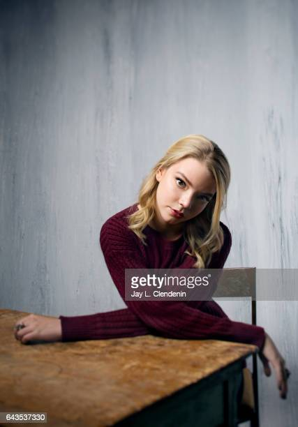 Actress Anya TaylorJoy from the film Thoroughbred is photographed at the 2017 Sundance Film Festival for Los Angeles Times on January 22 2017 in Park...