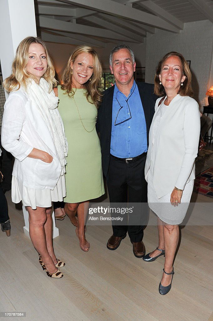 Actress Apple Via, Robyn O'Brien, Gary Hirshberg and Meg Hirshberg attend the 'Just Label It' (GMO labeling) campaign awareness seminar hosted by Shiva Rose on June 17, 2013 in Pacific Palisades, California.