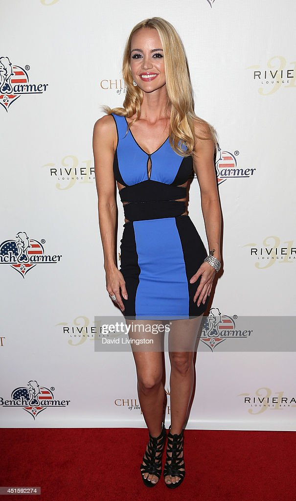 Actress April Scott attends BenchWarmer's Annual Stars & Stripes Celebration at Riviera 31 on July 1, 2014 in Beverly Hills, California.