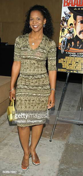 Actress April WeedenWashington attends the Los Angeles Premiere of Sony Pictures Classic 'BAADASSSSS' on May 25 2004 at American Cinemateque at the...