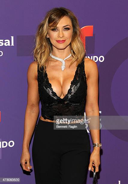 Actress Aracely Arambula attends the 2015 Telemondo And NBC Universo Upfront at Frederick P Rose Hall Jazz at Lincoln Center on May 12 2015 in New...