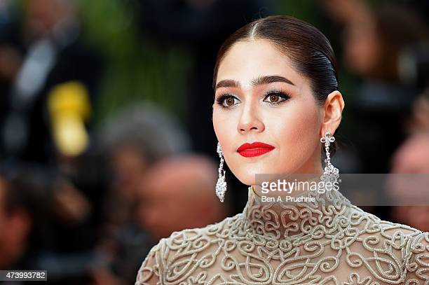Actress Araya Hargate attends the Premiere of 'Sicario' during the 68th annual Cannes Film Festival on May 19 2015 in Cannes France