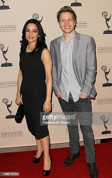 Actress Archie Panjabi and actor Matt Czuchry attend the Academy of Television Arts and Sciences' Presents an Evening with the 'Good Wife' television...