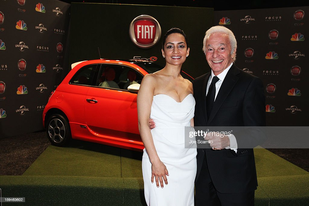 Actress Archie Panjabi and president of Sutton Associates Joe Sutton attend Fiat's Into The Green at the 70th Annual Golden Globe Awards held at The Beverly Hilton Hotel on January 13, 2013 in Beverly Hills, California.