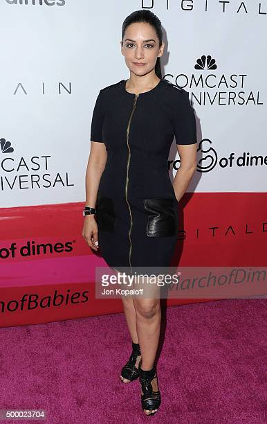 Actress Archie Panjabi arrives at the 2015 March Of Dimes Celebration Of Babies at the Beverly Wilshire Four Seasons Hotel on December 4 2015 in...