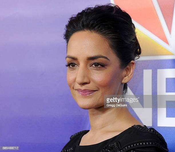 Actress Archie Panjabi arrives at the 2016 Summer TCA Tour NBCUniversal Press Tour Day 1 at The Beverly Hilton Hotel on August 2 2016 in Beverly...
