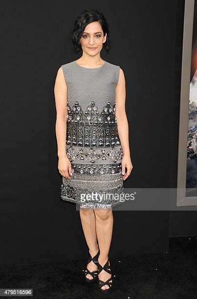 Actress Archie Panjabi arrives at the 'San Andreas' Los Angeles Premiere at TCL Chinese Theatre IMAX on May 26 2015 in Hollywood California