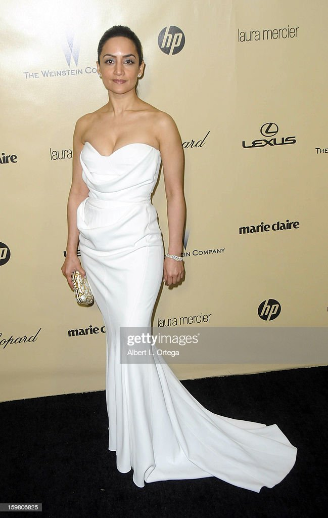 Actress Archie Panjabi arrives for the Weinstein Company's 2013 Golden Globe Awards After Party - Arrivals on January 13, 2013 in Beverly Hills, California.