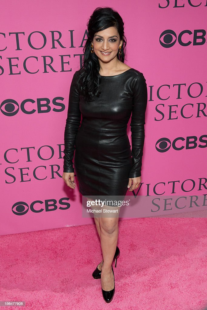 Actress Archie Panjabi attends the 2012 Victoria's Secret Fashion Show at the Lexington Avenue Armory on November 7, 2012 in New York City.